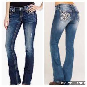 Miss Me Bootcut Denim Embellished Jeans 28